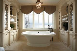小型公寓欧式奢华独立式浴缸效果图