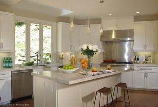 现代简约风格酒店式公寓欧式奢华开放式厨房装修效果图