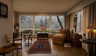 新古典风格客厅小户型公寓艺术家具单人沙发图片