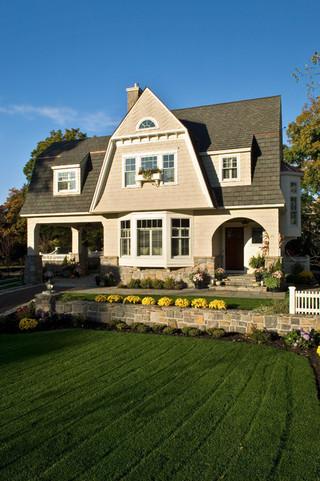美式乡村风格三层半别墅大气效果图