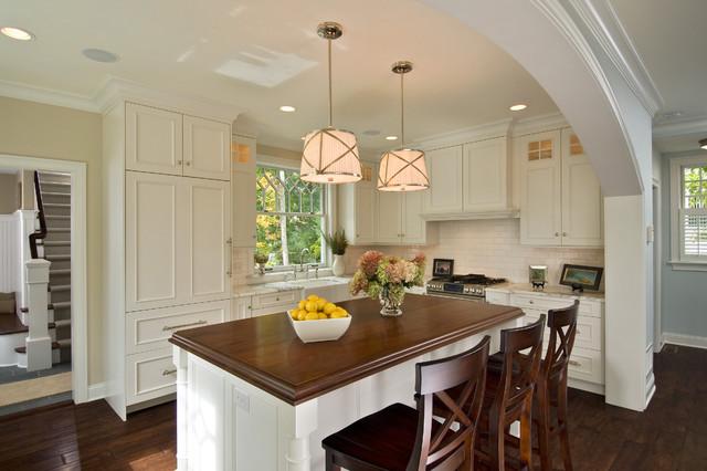 美式乡村风格卧室一层别墅大气厨房吧台设计图图片