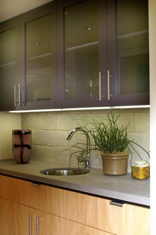 小公寓现代奢华一体式台盆图片