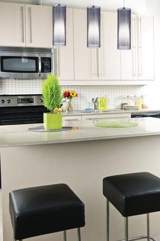 客厅简洁2014厨房开放式厨房吧台宜家椅子图片