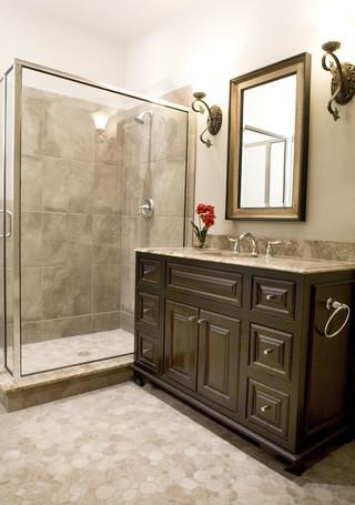 新古典风格卧室单身公寓艺术品牌浴室柜效果图