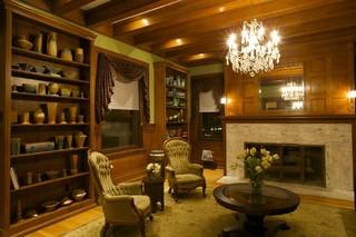 新古典风格客厅复式公寓艺术家具客厅水晶灯效果图