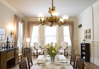 新古典风格客厅小户型公寓艺术家具红木餐桌图片