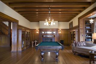 新古典风格卧室单身公寓厨房艺术家具原木色家居装修效果图