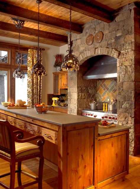 家庭滑雪度假小屋 餐廳 廚房吧臺