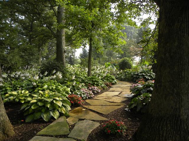私家花园 森林般的室外庭院