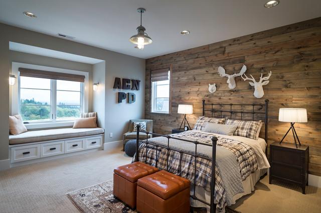 当代当世北边欧干风叁层独栋佩墅唯美最新卧室吊顶设计图片
