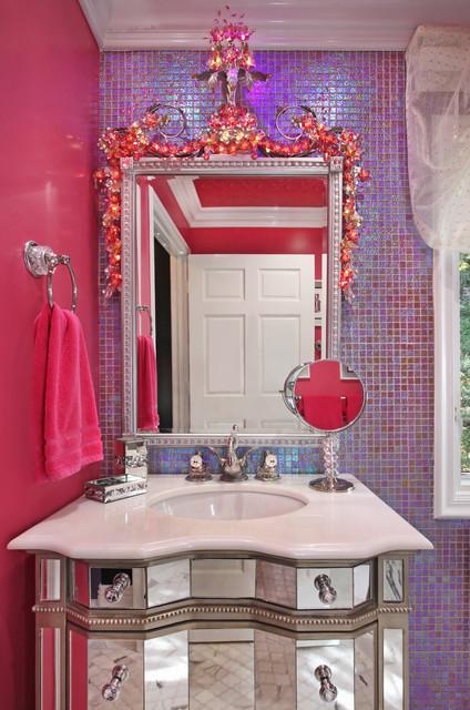 迷人粉色浪漫小屋