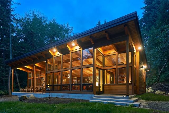 屋�_瓦逊岛1750平方英尺原木色度假屋
