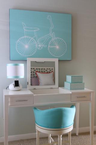 浅蓝色海洋风情清新公寓