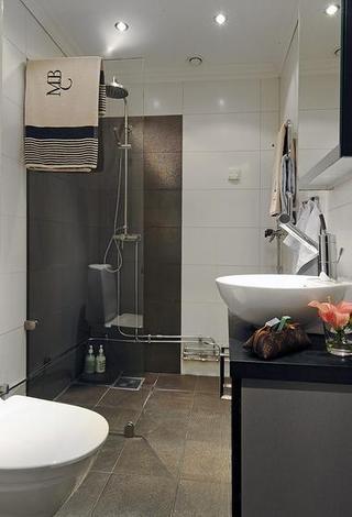北欧风格小户型舒适整体卫浴装修效果图