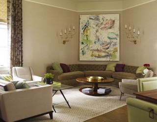 100平独特圆形客厅三居室 特色婚房