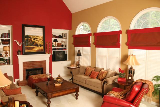 打开客厅和早餐区大胆的颜色 更美的享受