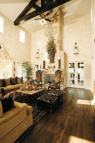 内部房间的家庭传统客厅 体验海外家居的大气