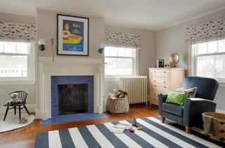 120平美式风格 三居室家居设计