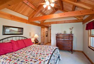 山林里的木屋 美式风格原木风别墅设计