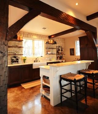 朴素的外墙瓷砖厨房图片