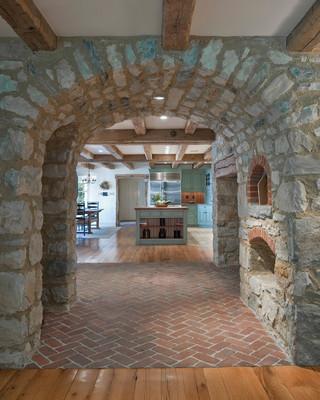 混搭风格三层独栋别墅时尚片客厅走廊装修图片