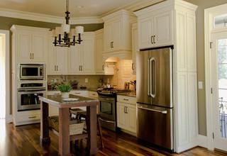 白色家居开放式厨房大理石餐桌图片
