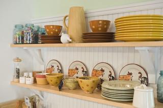 小型公寓温馨装饰厨房收纳架效果图