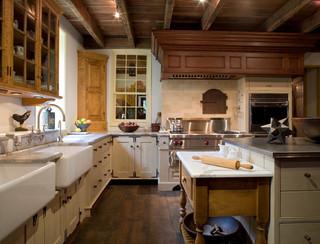 美式乡村风格客厅公寓舒适开放式厨房装修效果图