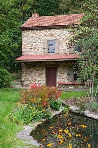 美式乡村风格卧室小户型公寓舒适一楼花园装修