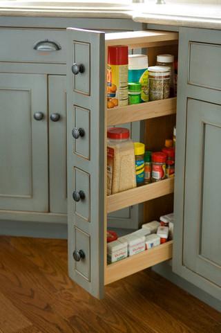 时尚家居装饰绿色橱柜2014厨房装修效果图