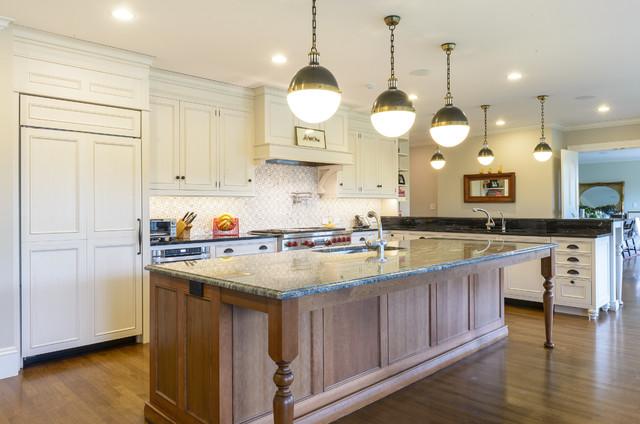 白色简欧风格简洁开放式厨房装潢图片