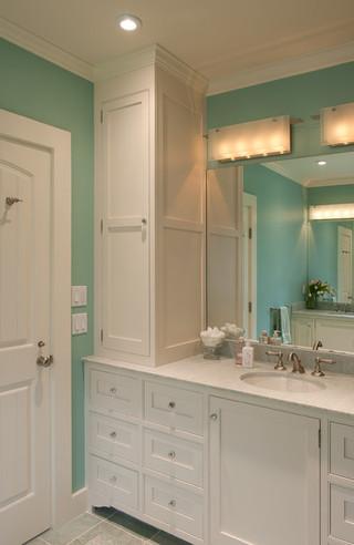 40小清新实木浴室柜图片