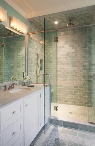 40小清新品牌整体淋浴房效果图