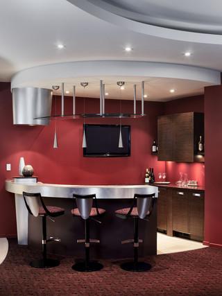 时尚室内开放式厨房餐厅吸顶灯效果图