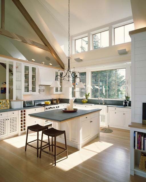 欧式风格大方简洁客厅半开放式厨房收纳柜效果图图片