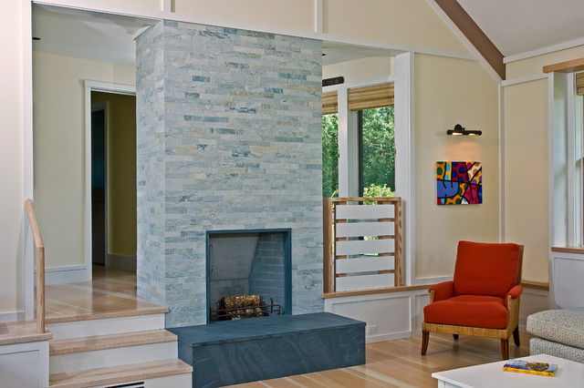 酒店式公寓时尚家具砖砌真火壁炉设计图图片