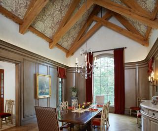新古典风格客厅小型公寓艺术混搭吊顶效果图