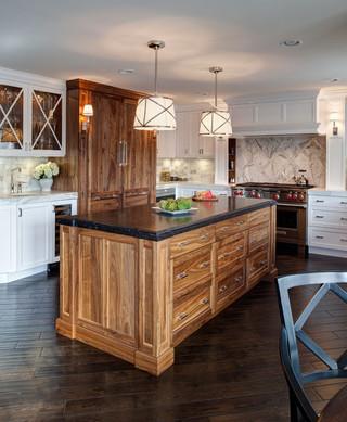 小型公寓白色简欧风格开放式厨房餐厅装潢