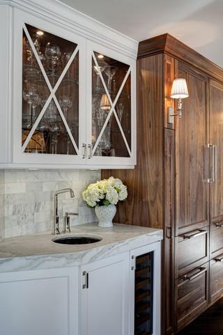 单身公寓厨房白色欧式家具一体式台盆图片