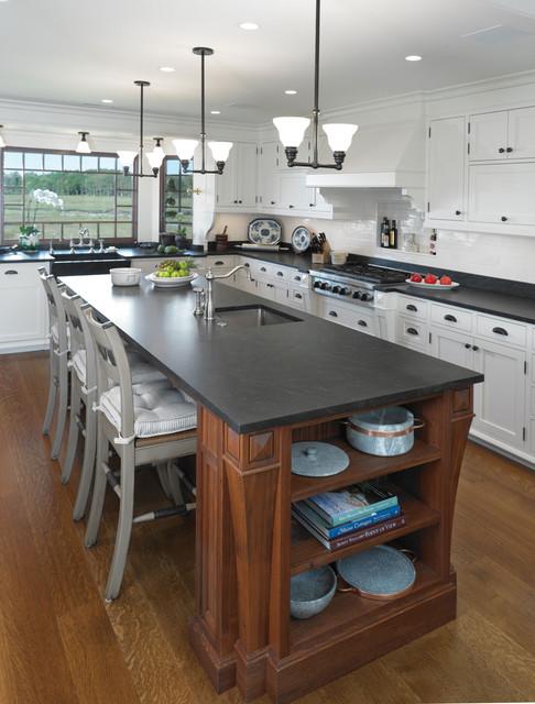 客厅简洁欧式开放式厨房家用餐桌图片