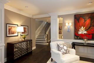 三层连体别墅别墅豪华白色简欧风格欧式过道吊顶装修效果图