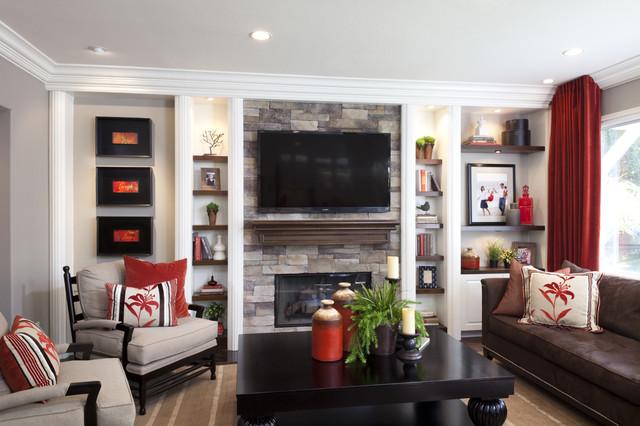 一层半小别墅欧式豪华白色欧式2014年电视背景墙设计