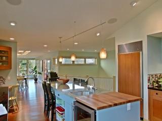 大户型客厅温馨装饰开放式厨房客厅装修效果图