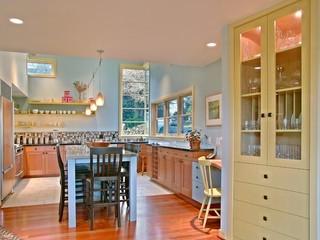 大户型客厅卧室温馨厨房餐厅客厅一体效果图