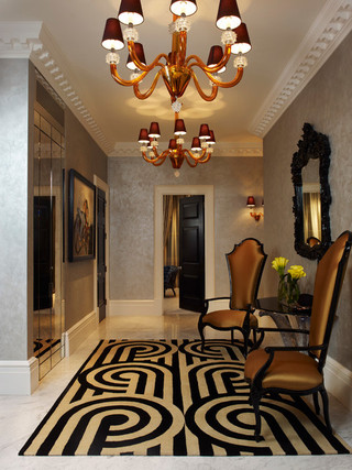 大户型客厅卫生间黑白客厅茶几地毯图片