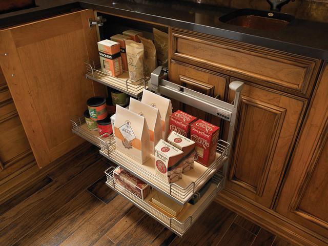 简单实用原木色4平方厨房整体橱柜安装图