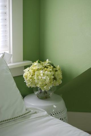 中式风格卧室精装公寓简洁绿色橱柜装修图片