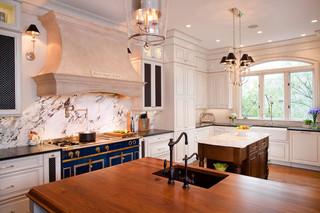 欧式奢华开放式厨房吧台中式餐桌图片