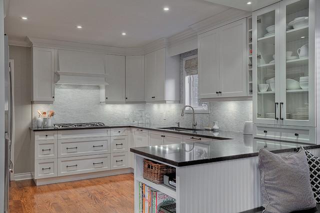 白色室内开放式厨房吧台欧式书柜图片图片