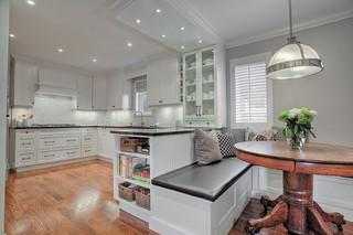 简欧风格餐厅简洁卧室小户型开放式厨房飞利浦吸顶灯效果图